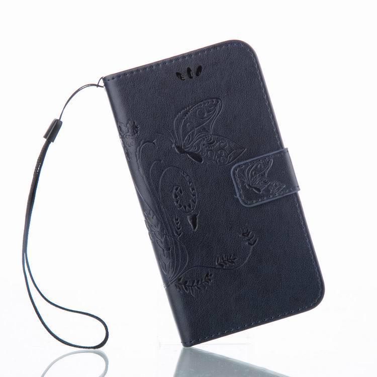 Cartera para Highscreen Power Five Pro cubierta flip Case de lujo PU cubierta de cuero mariposa impresión retro smart phone shell