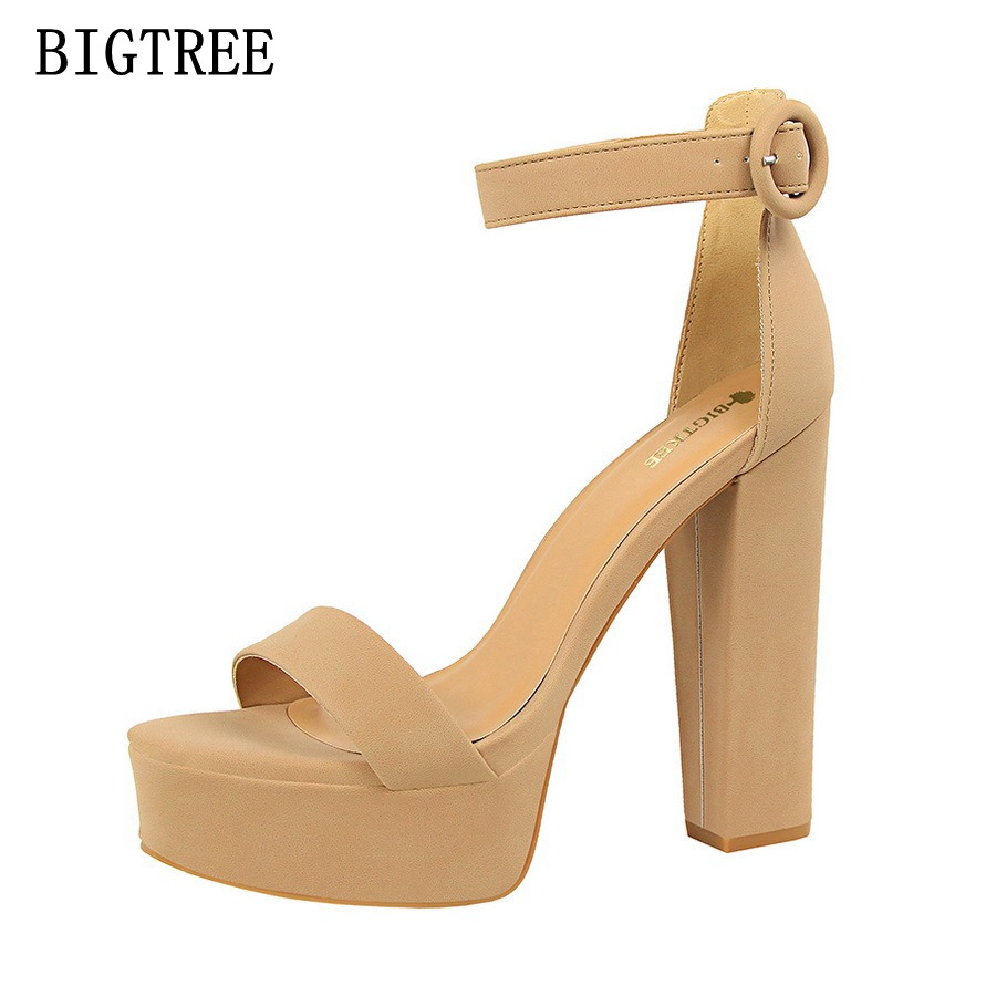 2017 New Sweet Summer Women High Sandal Thin Fashion Female High Heel Shoes Sexy Comfortable Ladies banquet Style Women Sandals qiu dong in fashionable boots sexy and comfortable women s shoes the new national style high heel heel thick heel
