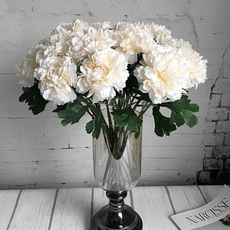 e292bee2f52 5 Big Heads/Bouquet Peonies Artificial Flowers Silk Peonies Bouquet ...