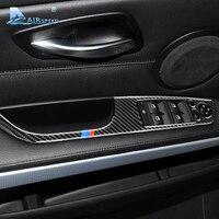 Скорость полета 4 шт для BMW 3 серии E90 E93 аксессуары LHD Автомобильный интерьер углеродного волокна двери окна переключатель Панель крышка отде...
