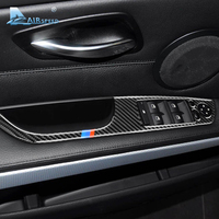 Airspeed 4pcs for BMW 3 Series E90 E93 Accessories LHD Car Interior Carbon Fiber Door Window Switch Panel Cover Trim Car Styling