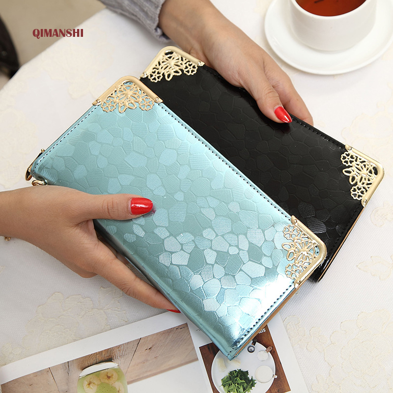 QIMANSHI Women Wallet Brand 2017 Women Candy Long Organizer Wallet Girl Fashion Fresh Clutch Bag Vintage Purse Ladies Handy