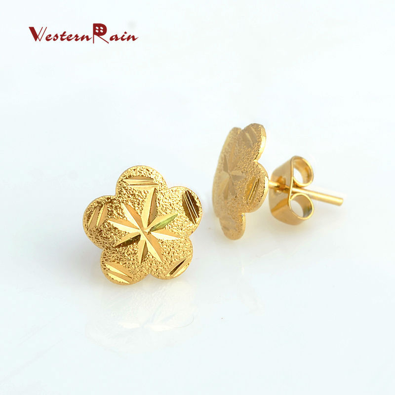 5 Pairs Fashion Stud Earrings Jewelry For Women Dubai Gold Color