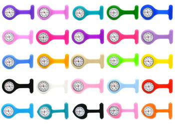 High Quality Brand New Silicone Nurses Brooch Watches Pocket Fob Quartz Watches Tunic Batteries Medical Nurse Watch