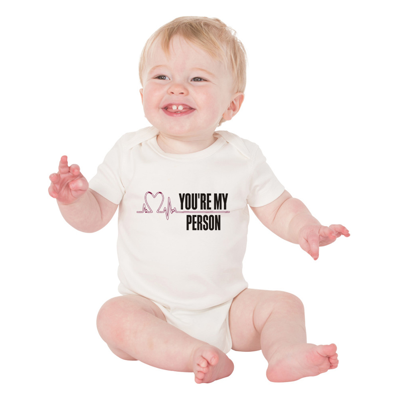 HY0097 Summer Heartbeat Baby Onesie Youre My Person Print Baby Bodysuits