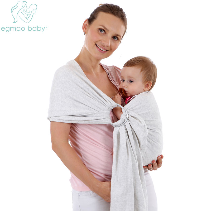 Mother & Kids Activity & Gear The Cheapest Price Cotton Kid Baby Infant Carrier Soft Baby Sling Breathable Comfortable Wrap Infant Carrier Ring Swing Slings Baby Sling Product