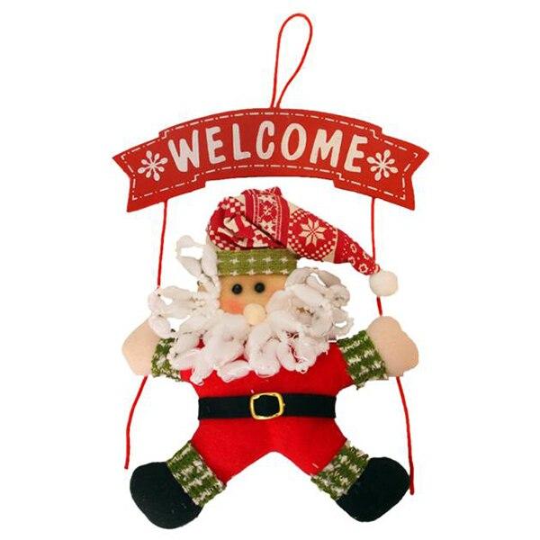 HOT SALE Santa Christmas Wreath Christmas Hang on door Party Home Decor NEW