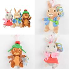 Original Peter Rabbit Plush Toy 13cm 15cm Anime Girl Stuffed Bunny lily Benjamin Animal Doll Birthday Childrens Day Gift