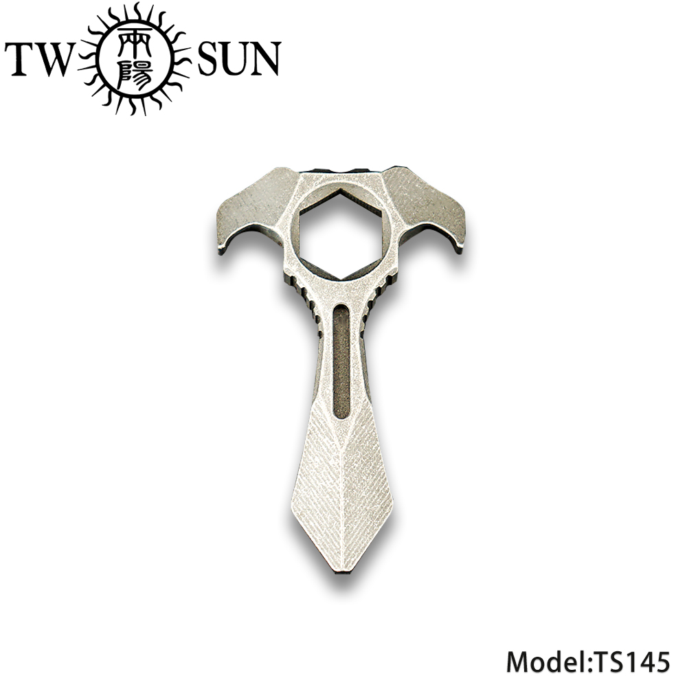 TWOSUN Original TC4 Titanium MiNI Tool Multi-tool Outdoor Survival tool knuckles Tool Self defence Protect EDC TS145