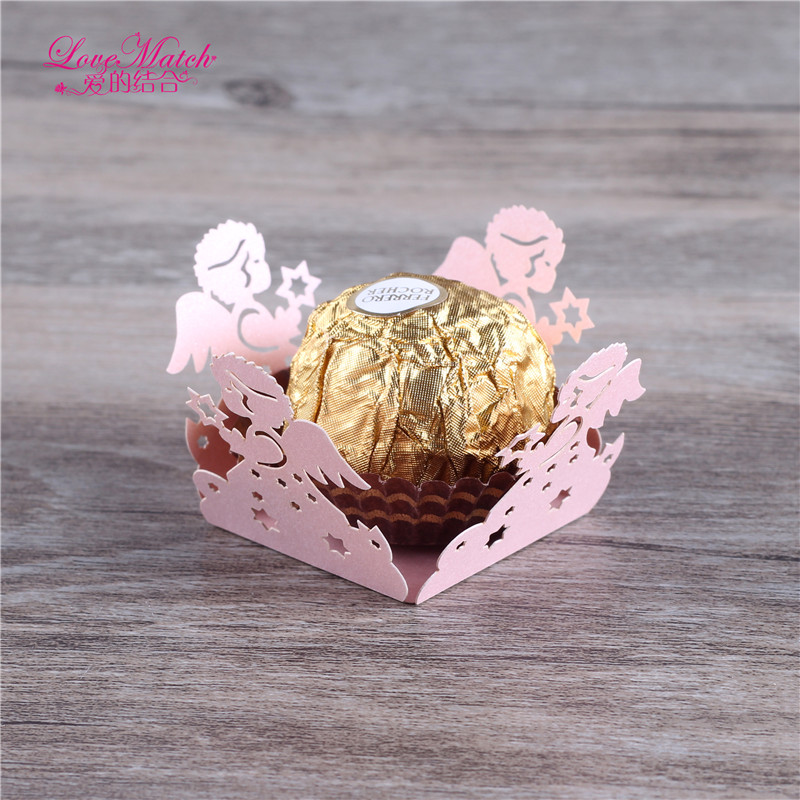 50 Pcs Laser Cut Wedding Candy Bar Angel Wedding Favors And Gifts