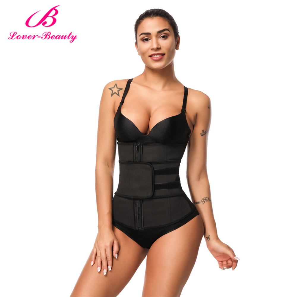 10863fa35e2 Lover Beauty Abdominal Belt High Compression Zipper Plus Size Latex Waist  Cincher Corset Underbust Body Sweat Waist Trainer C