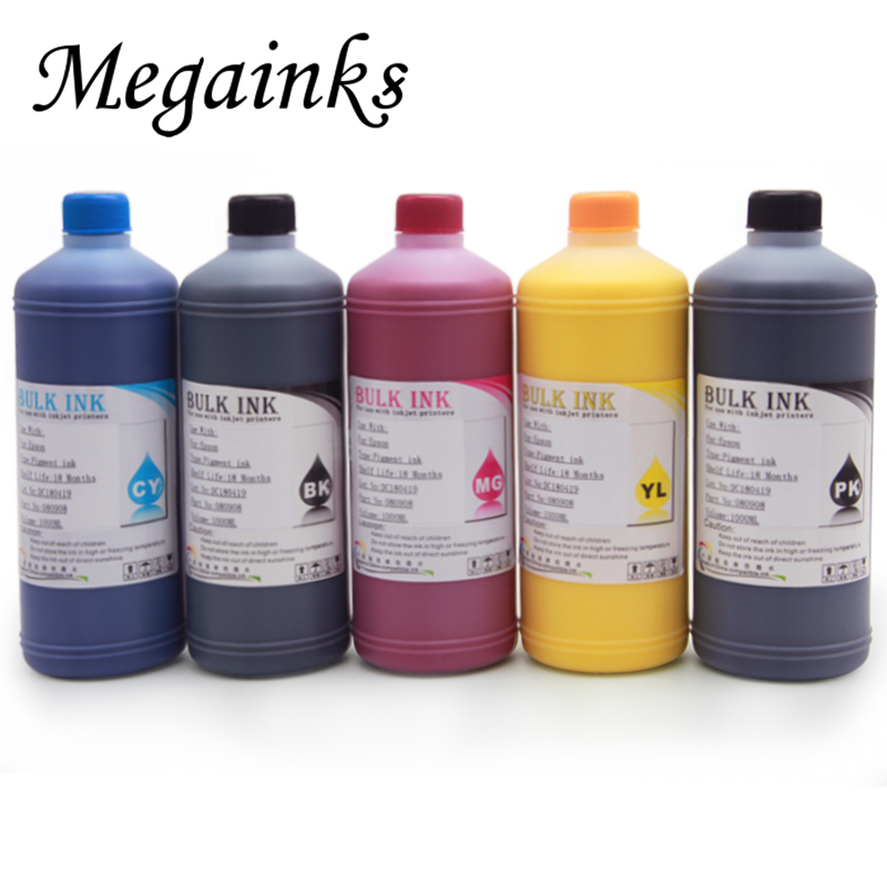 500ML Waterproof Pigment <font><b>Ink</b></font> for <font><b>Epson</b></font> T3000 T3070 T3200 T3270 T5000 T5070 <font><b>T5200</b></font> T5270 T7000 T7070 T7200 T7270 7700 9700 MBK image
