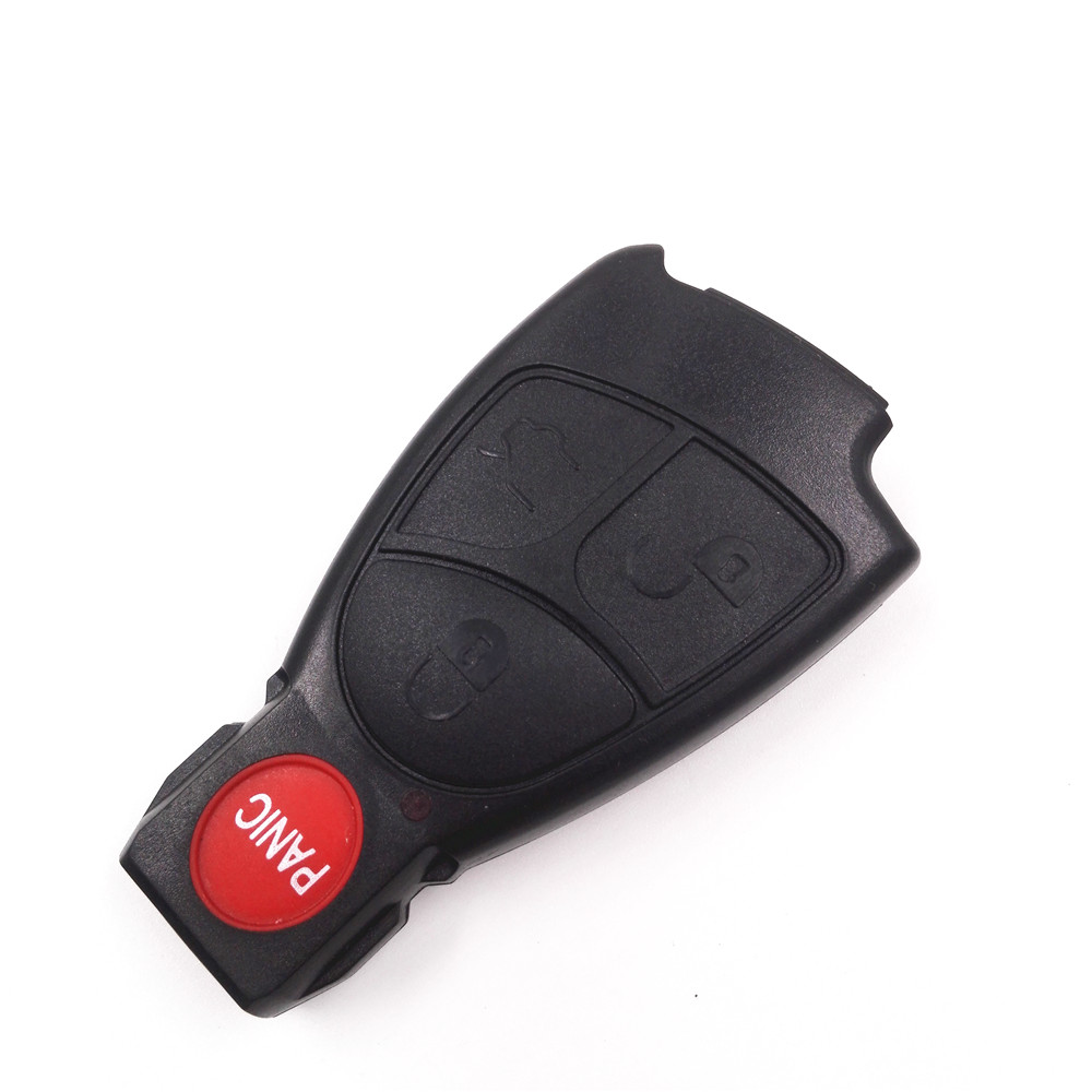 3+1 Panic 4 Buttons Car Key Shell Remote Keyless Entry Fob Alarm Case Cover for Mercedes-Benz MB without Battery Holder Clip