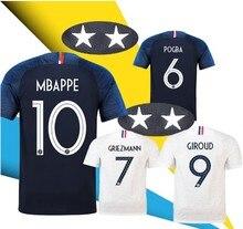 2f12ce75c 2 Stars France soccer jerseys GRIEZMANN MBAPPE POGBA 2018 world cup shirts  DEMBELE MARTIAL KANTE jerseys football GIROUD Maillot