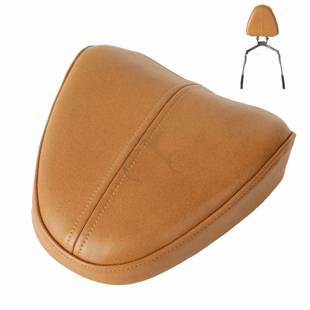 Motorcycle Tan Passenger Sissy Bar Pad For Indian Scout 2015-2020 Sixty 2016-2020 Bobber