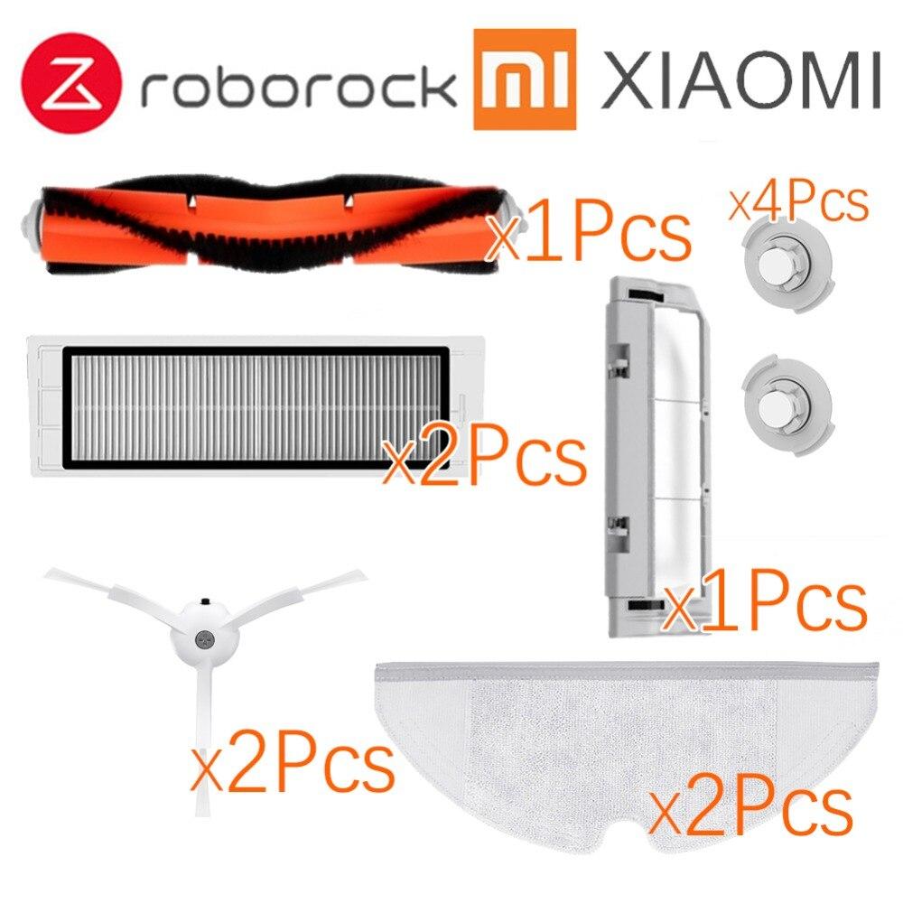 Adatto per Xiaomi Roborock Robot S50 S51 Aspirapolvere Kit di Parti di Ricambio Mop Panni Bagnati Pulire filtro Spazzola Laterale Rotolo pennello