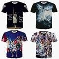 Летние виды спорта Баскетбол Звезды футболки мода 3d Печати иордания майка С Коротким рукавом swag одежда футболка camisas masculinas