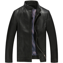 2016 New Men Leather Jacket Fashion High Quality Thick Jaqueta De Couro Masculina Business Casual Mens Leather Jackets And Coats