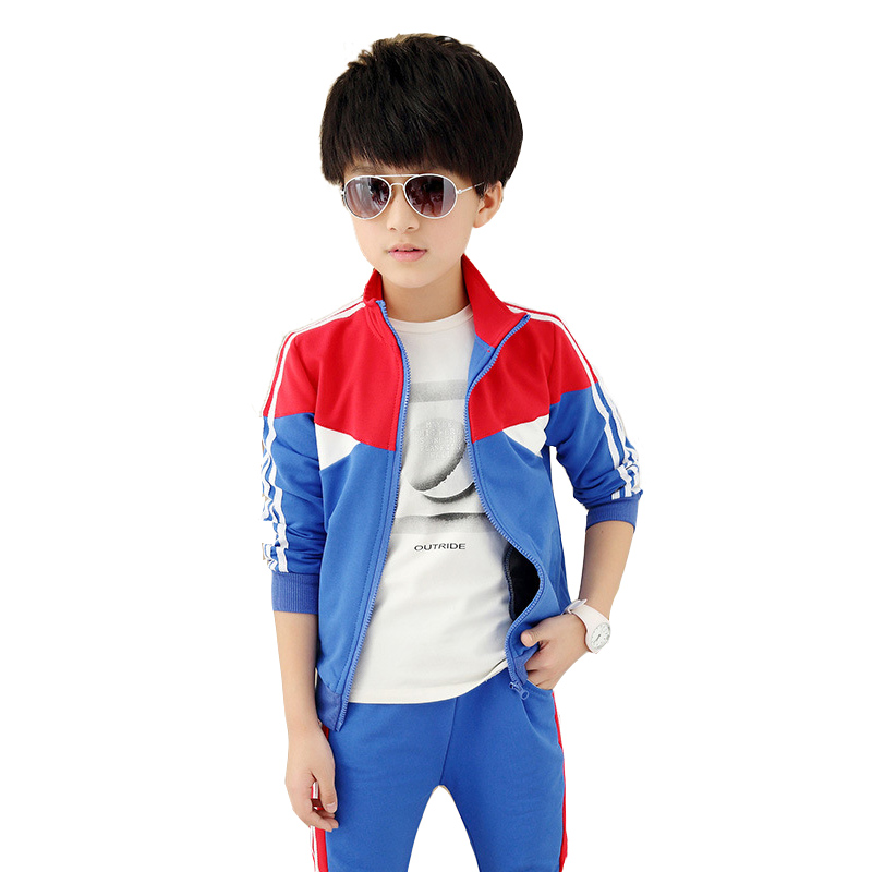 Teenage boys clothing set autumn boys and girls coat+pants two piece suit toddler clothes 10 14 15 age kids clothes girl sports 2017 autumn girl doll shirt the fashionable two piece set of pure color lotus leaf coat with harness sets tide