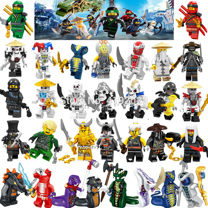 For Ninja Figures Lloyd Nya Jay Zane Kai Cole Harumi Wu Samurai X Action Building Blocks Bricks Toys For Children