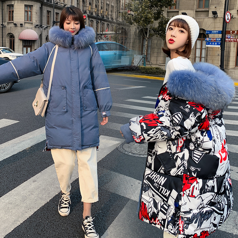 Both Two Sides Can Be Wore 2019 New Women Winter Jacket Fur Hooded Long Coat Cotton Padded Warm   Parka   Womens   Parkas   Winter Coats