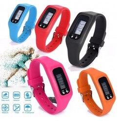 Neu Digital LCD Schrittzähler Run Schritt Walking Distance Calorie Zähler Sport Uhr Armband