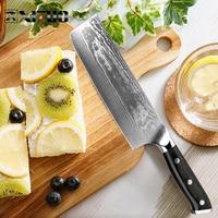 XITUO Damascus Chef Knife Nakiri Cleaver Cut Meat Sliced Beef Fish Knife Utility Sashimi Japanese VG10 Santoku Knife Asian Chine