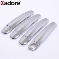 For Volkswagen JETTA 2011 2012 ABS Chrome Plating Door Handle Cover Trim Decoration Frame Car Styling