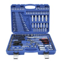216pcs/Set Repairing Tool Kit Torx Ratchet Socket Spanners Set Screwdriver Bit Car Tool Kits 1/2 inch 1/4 inch 3/8 inch Tool Set