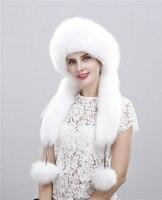Лиса меховые шапки для женщин меховая шапка двойная оплетка Монголии принцесса шапка выдра кролика Корона зимние наушники меховая шапка
