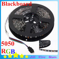 Waterproof 5050 Blackboard RGB LED Strip Black-matrix with Lights 60LEDs/M RGB Blackbase LED Strip Free Shipping