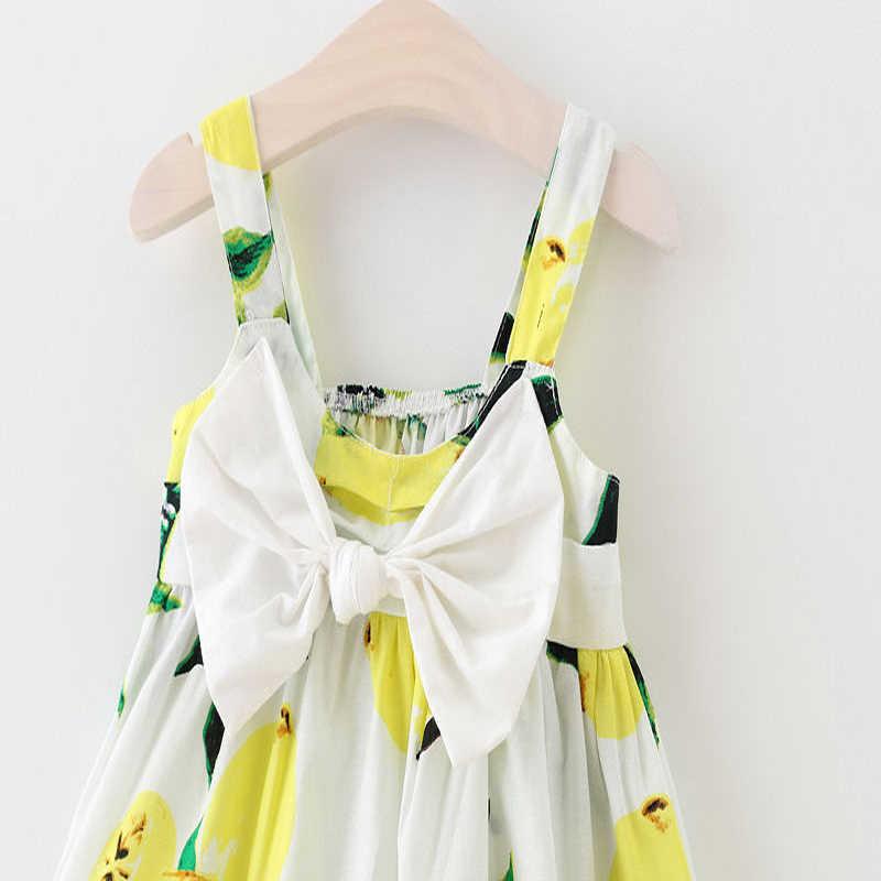 2017 יפה חמוד 2 סגנון תינוקות בנות קיץ ללא שרוולים פרפר צווארון מרובע נסיכה להתחפש שמלה קיצית הדפס פרחוני מפלגה תלבושת 0-3Y
