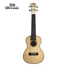 цены на UK Dream 23 inch UKulele Mini 4 strings acoustic guitar Closed Knob Tiger pattern maple ukulele 18 frets guitarra UC-A6H  в интернет-магазинах
