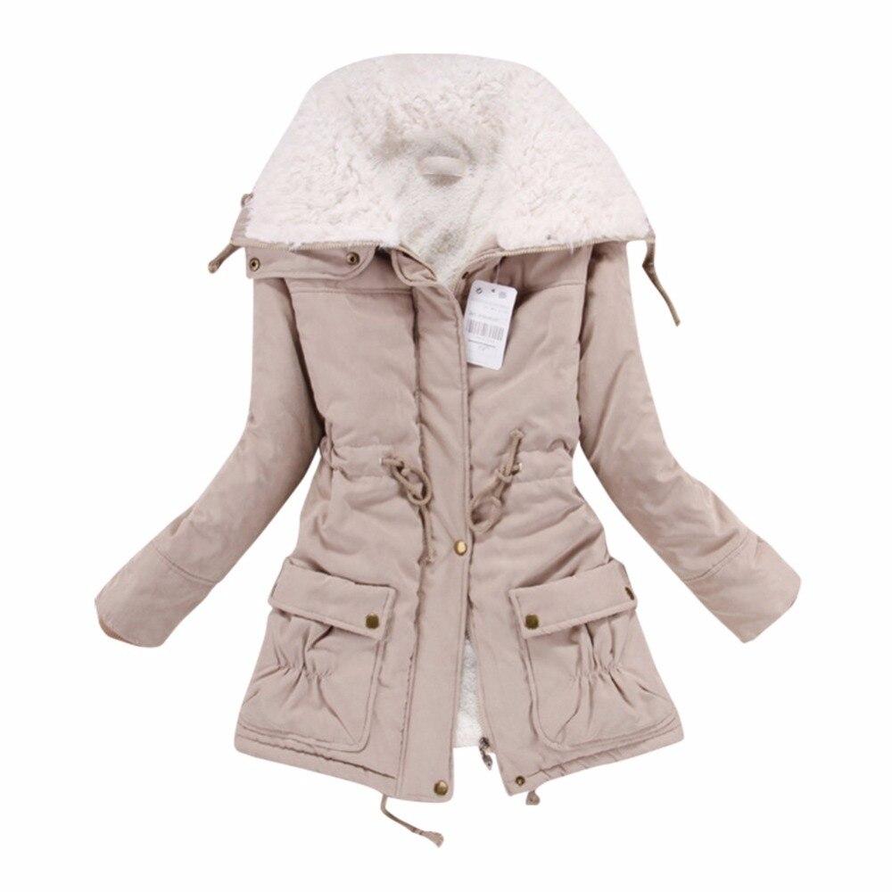 Laine De Coton Manteau D'agneau Longue Chaud Bleu Veste Parka rouge Mode Outwear Section orange kaki Revers Hiver Femmes jaune T77 vqXwxfFxY