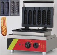 201 Stainless steel 6 pieces French muffins electric hot dog waffle machine hot dog corn great baking oven