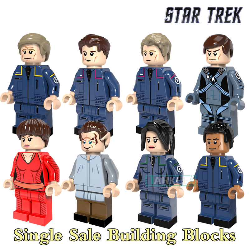 Educational Blocks Star Trek Figures Enterprise Spock Star Wars Super Heroes Model Action Bricks Kids DIY Toys Hobbies PG8054  star trek zulu eoward tayburn captain kirk khan scotty spock super heroes bricks model building blocks toys for children kf8002