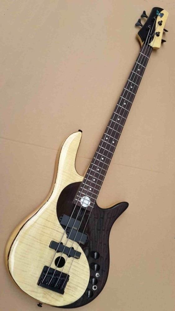 цены на maple with rosewood black & white color active 4 string bass guitar  в интернет-магазинах