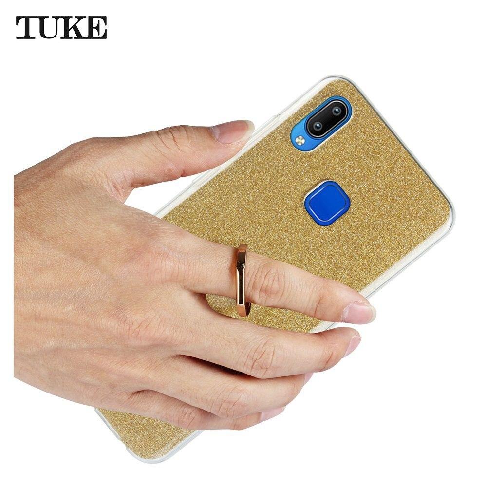 For Vivo Y95 Case Y91 Phone Cover Soft Silicone Finger Ring Holder Back Case Coque For Vivo Y95 Vivo Y91 Phone Shelll Case Y 95