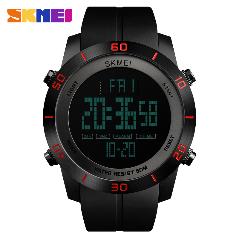 Fashion Digital Watch Waterproof Casual Sports Watches SKMEI Brand Multifunction Men Boys Wristwatches relogio masculino Relojes купить в Москве 2019