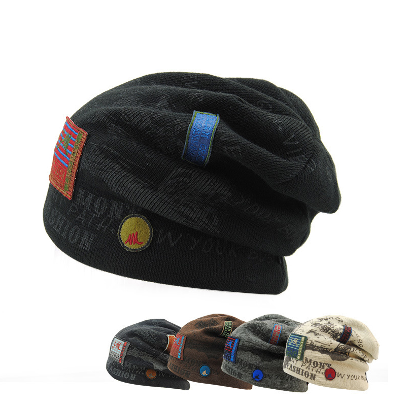 2016 autumn and winter hats new knitted cap men warm Europe and the United States and Baotou Wool Hats HMZ8198 цена 2017
