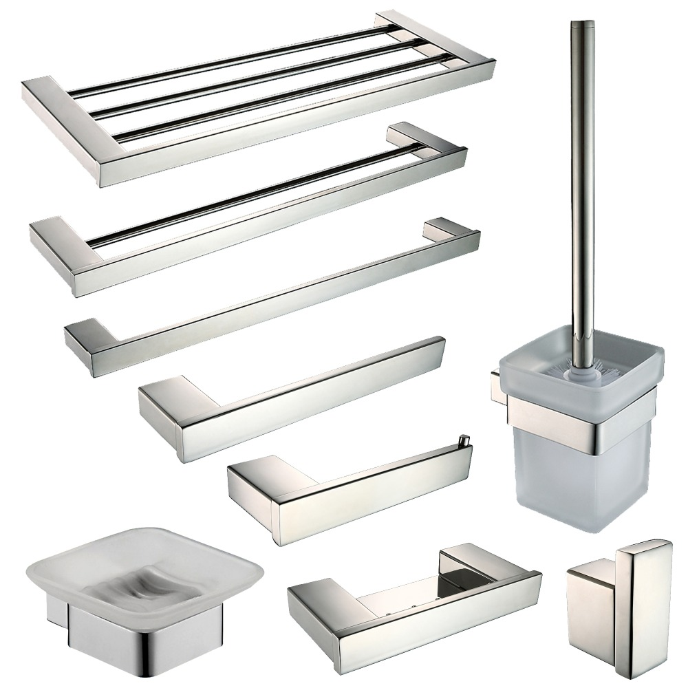 compare prices on stainless steel bathroom accessories set- online