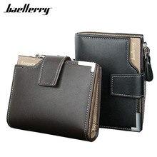 New 2017 Short Wallets Baellerry Genuine Leather+PU Men
