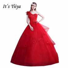 a805689917 Por Encargo Sin Tirantes de Lentejuelas de Un Hombro Vestidos de Boda Blanco  Rojo Barato Vestidos