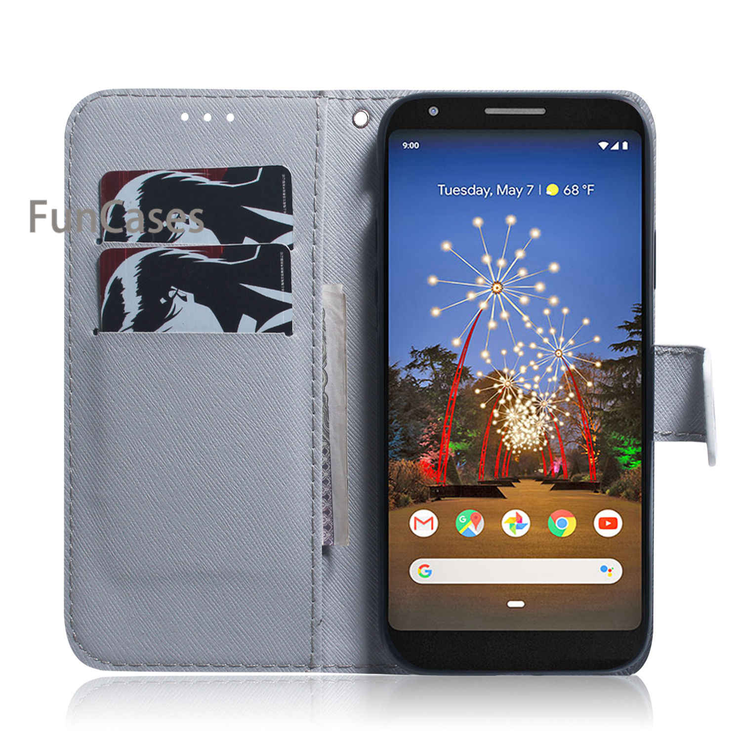 3A XL Phone Cases Covers For hoesje Google Pixel 3A XL Hot Balr PU Leather Flip Case sFor Coques Google carcaso Pixel 3A XL