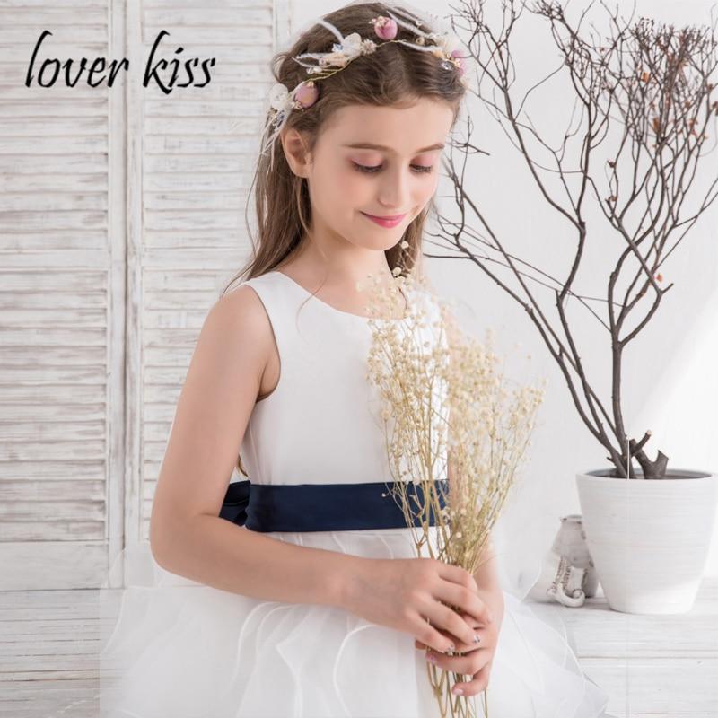 0b7d336e63 Lover Kiss Robe Mariage Enfant 2018 Organza Little Big Kids Flower Girls  Dresses White Prom Gowns Ruffles Holy Communion Dress-in Flower Girl Dresses  from ...