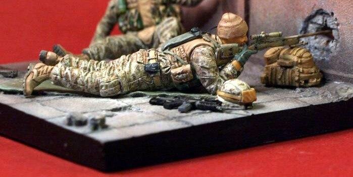 American Sniper Toys : Scale modern american sniper miniatures resin model