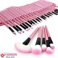 Кисти для макияжа 32 Шт. Розовый Профессиональный Мягкий Косметический инструмент Красоты Make up Brush Set Kit Tools женщины составляют Щетки Maquiagem