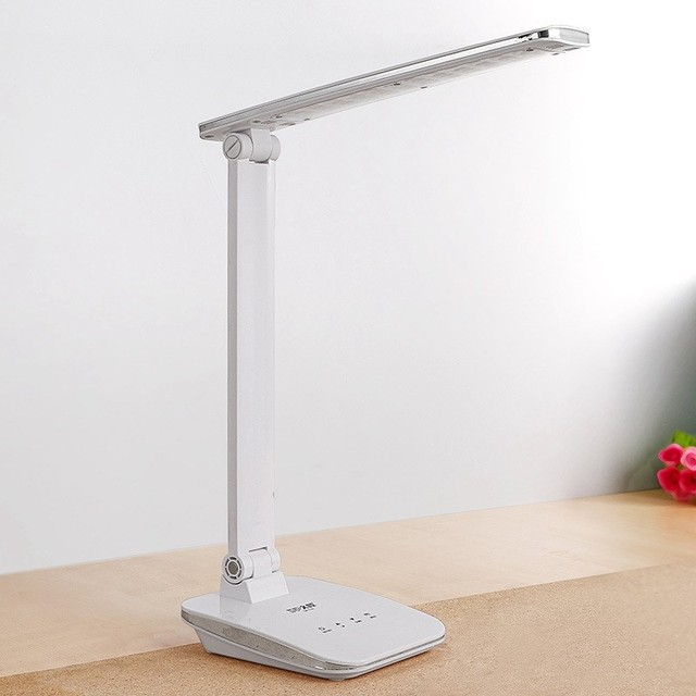 Portable Adjustable Desk Lamps Rechargeable 48 LED Lamp Beads Table Lamp Foldable White Temperature Changeable With Touch Dimmer