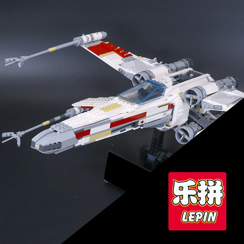 Lepin 05039 1586pcs Genuine New Star Series The X-toy wing Red Five Starfighter Set Educational Building Blocks Bricks War Toys lepin 05040 y attack starfighter wing building block assembled brick star series war toys compatible with 10134 educational gift