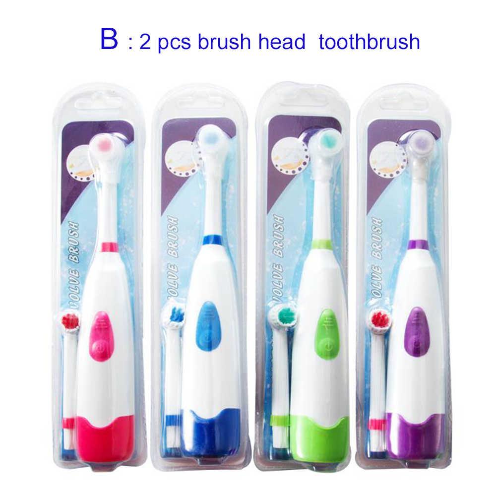 1 個回転電気歯ブラシバッテリーロータリー歯ブラシ電気大人と子供のため子供交換可能なブラシヘッド